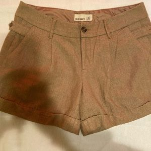 Old Navy Brown Wool Shorts